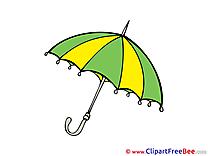 Umbrella Cliparts printable for free