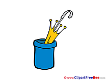Umbrella in Pot free printable Cliparts and Images