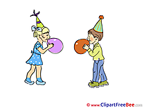 Balloons Children Pics Party Illustration