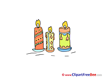Candles printable Illustrations Party