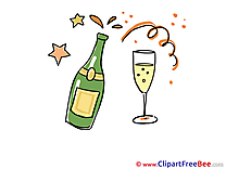 Champagne Party Illustrations for free