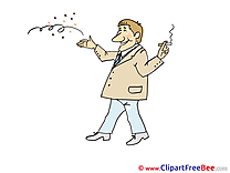 Cigarette Man Clipart Party free Images
