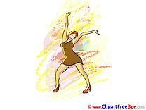 Club Dancer Girl Party Illustrations for free