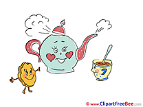 Cookie Kettle Cup of Tea free Cliparts Party