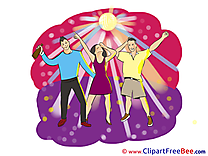 Evening Dances Party download Illustration