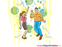 Happy Birthday Dancers Clipart Party free Images