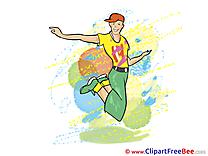 Hip-Hop Dancer Boy Party download Illustration