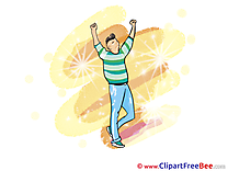 Man Dancer Party Clip Art for free