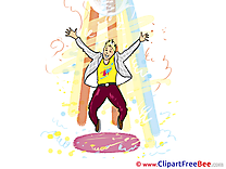 Party Jumping Man Dancer Clip Art download