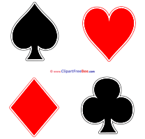 Suits Playing Cards Cliparts Party for free