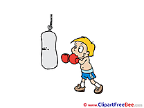 Boxer Boy Kick Pics printable Cliparts
