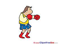 Boxer Man printable Illustrations for free