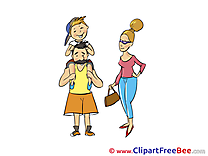 Father Family free printable Cliparts and Images