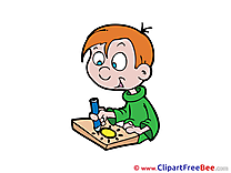 Painter Boy Cliparts printable for free