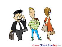 Queue People free Illustration download