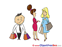 Shopping People Clipart free Illustrations