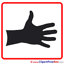 Hand Palm free Cliparts Pictogrammes
