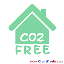 House CO2 Pictogrammes Illustrations for free
