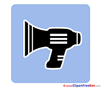 Speaker Pictogrammes Clip Art for free
