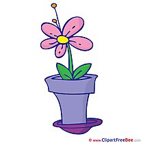 Picture Flower in Pot Pics printable Cliparts