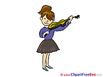 Cellist Violin Woman free Cliparts for download