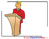 Conference Man Clipart free Illustrations
