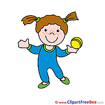 Fitness Girl free printable Cliparts and Images