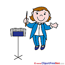 Orchestra Man Clip Art download for free