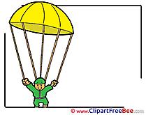 Parachutist Clipart free Illustrations