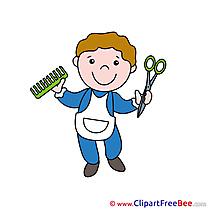 Stylist Comb Cut free Illustration download