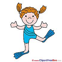 Swimmer Girl free Illustration download