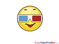 Glasses Smiles Clip Art for free