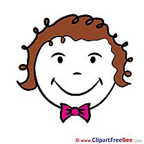 Gleeful free Illustration Smiles