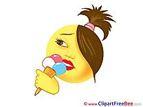 Ice Cream printable Illustrations Smiles