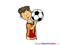Boy free Cliparts Football
