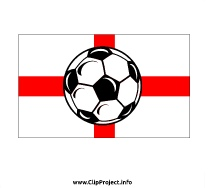 England flag and Soccer Ball Clip Art