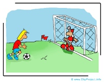 Free Kick Cartoon - Soccer Cliparts