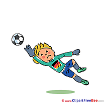 Goalkeeper Football Clip Art for free