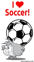 I love Soccer - Clip Art