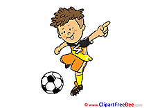 Kick Football Clip Art for free