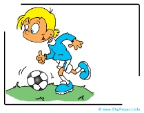 Playing Soccer Clip Art