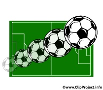 Soccer Balls flying Image