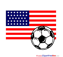 USA printable Illustrations Football
