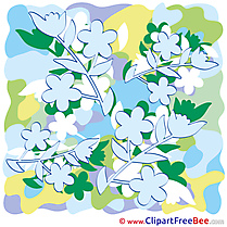 Drawing Spring Flowers free printable Cliparts and Images