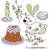 Easter Bunny Candle printable Illustrations for free