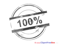 100 Percent Clipart Stamp Illustrations