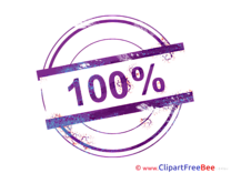 100 Percent Pics Stamp Illustration