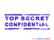 Confidential Cliparts Stamp for free