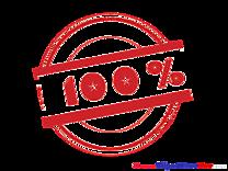 One Hundred Percent printable Illustrations Stamp