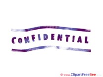 Prurple Confidential free Cliparts Stamp